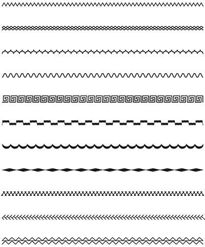 Кисти Adobe Illustrator (Отделочные строчки) – Набор 1